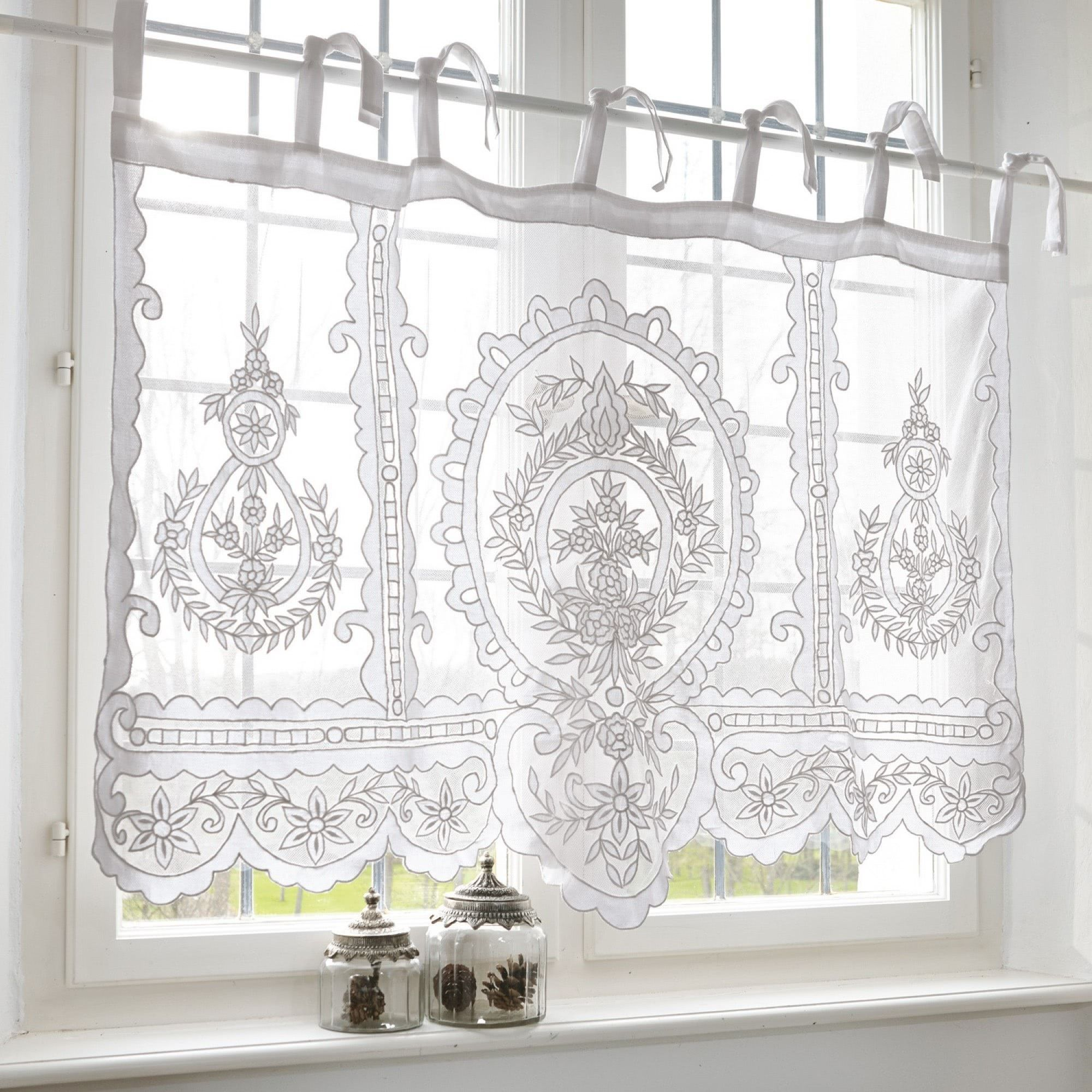 Scheibengardine Elenoire Loberon Coming Home Whitecurtains Cottage Curtains Diy Curtains Voile Curtains