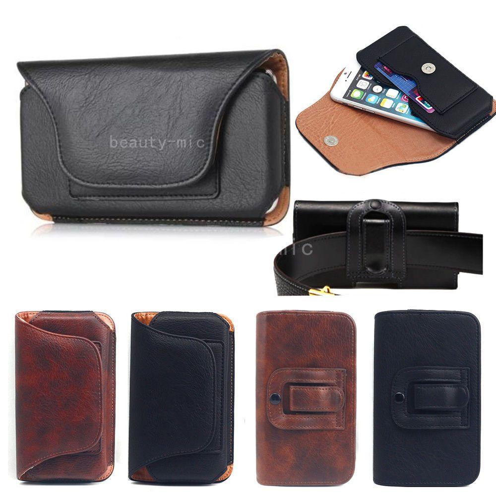Details about luxury mens belt clip pu leather wallet