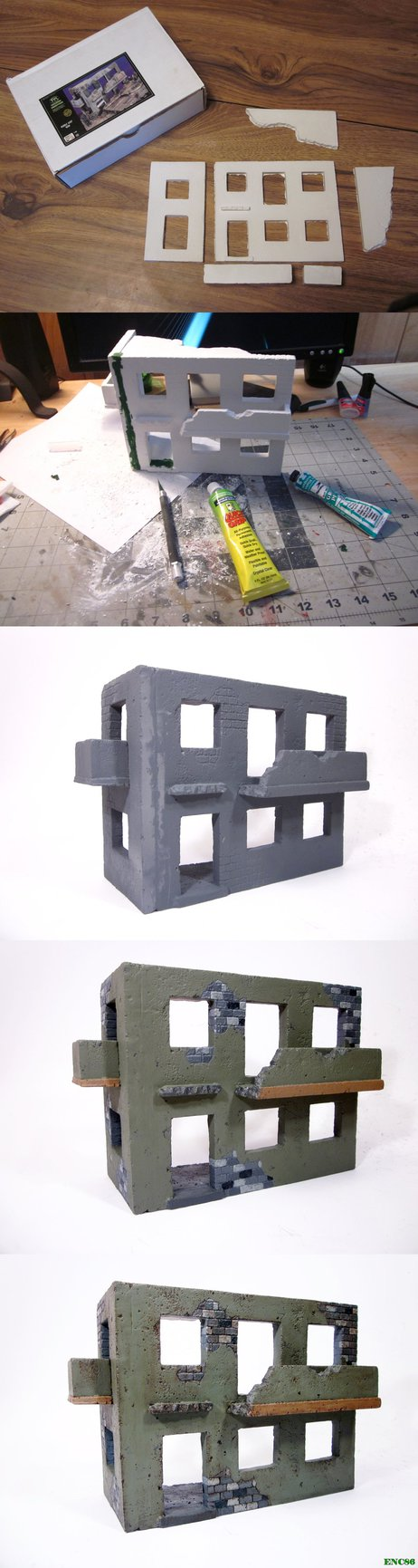 "Here is a couple days worth of work on a 1/35 ruined building for an upcoming diorama. The building is from ""Verlinden"" and made out of plaster. While the kit is nice it does have a few draw backs ..."
