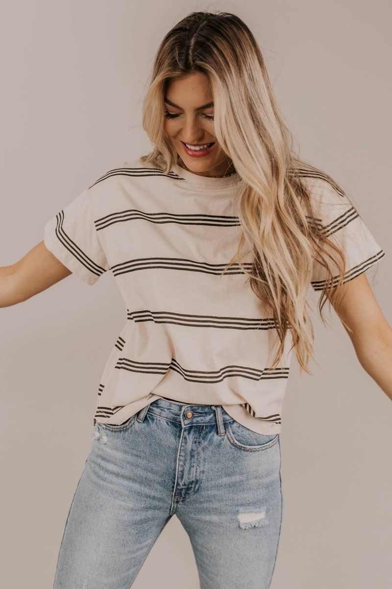 Studio Stripe Top