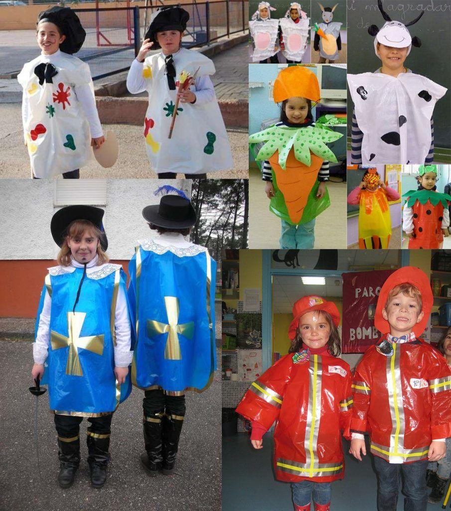 Disfraces con bolsas de basura o de plastico de colores para niños - Disfraces, Disfraces ...