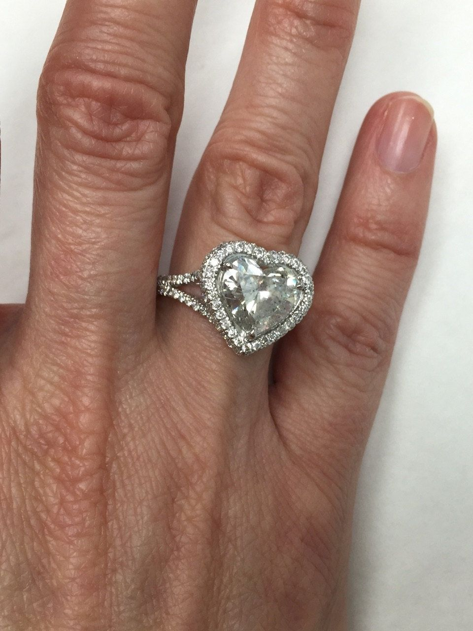 5 Carat Heart Shaped Diamond Ring Engagement Rings
