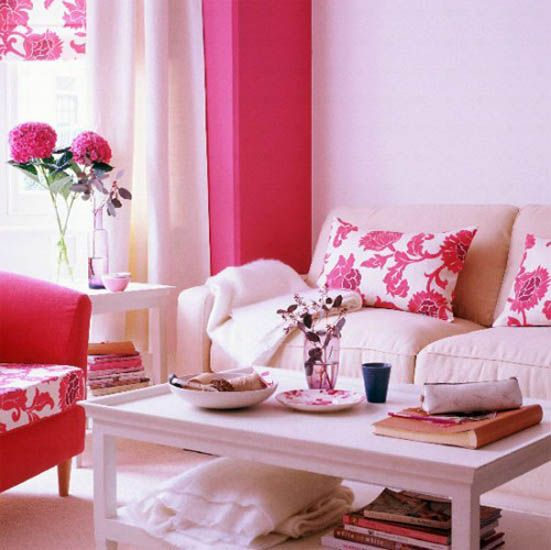 Cute Pink Living Room Decorating Ideas - Best Interior Design Blogs ...
