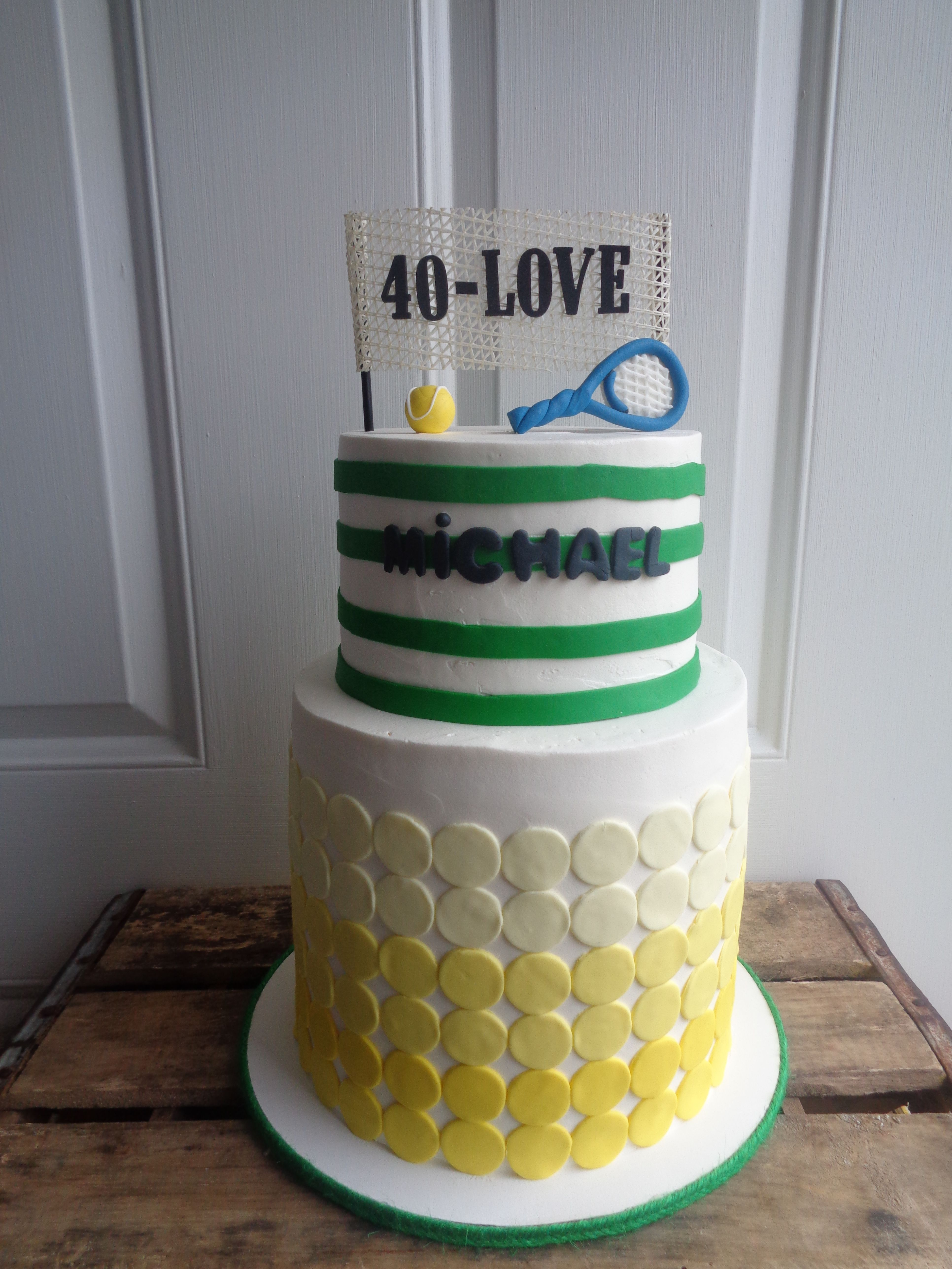 40th Birthday Cake Tennis Theme Party Pinterest 40 Birthday