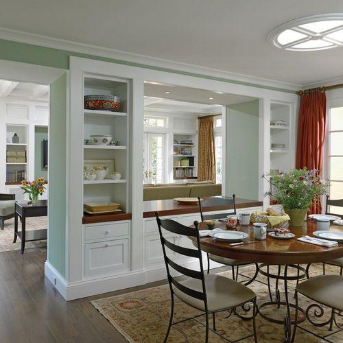 Half Open Kitchen Design: Traditional Kitchen Pass Through Dining Room Design Ideas