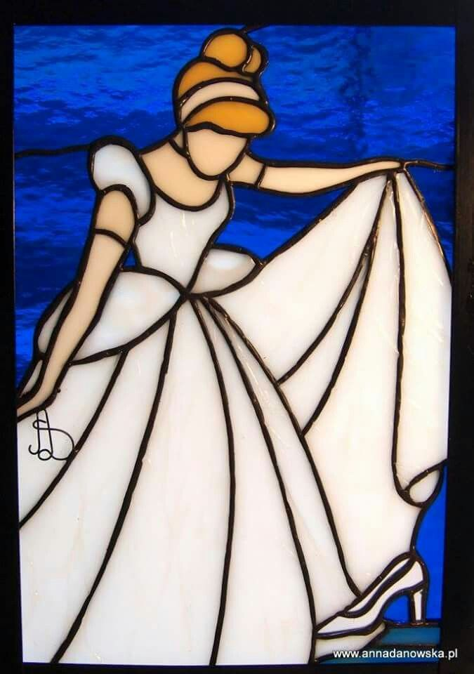 Cinderella Disney Stained Glass Stained Glass Quilt
