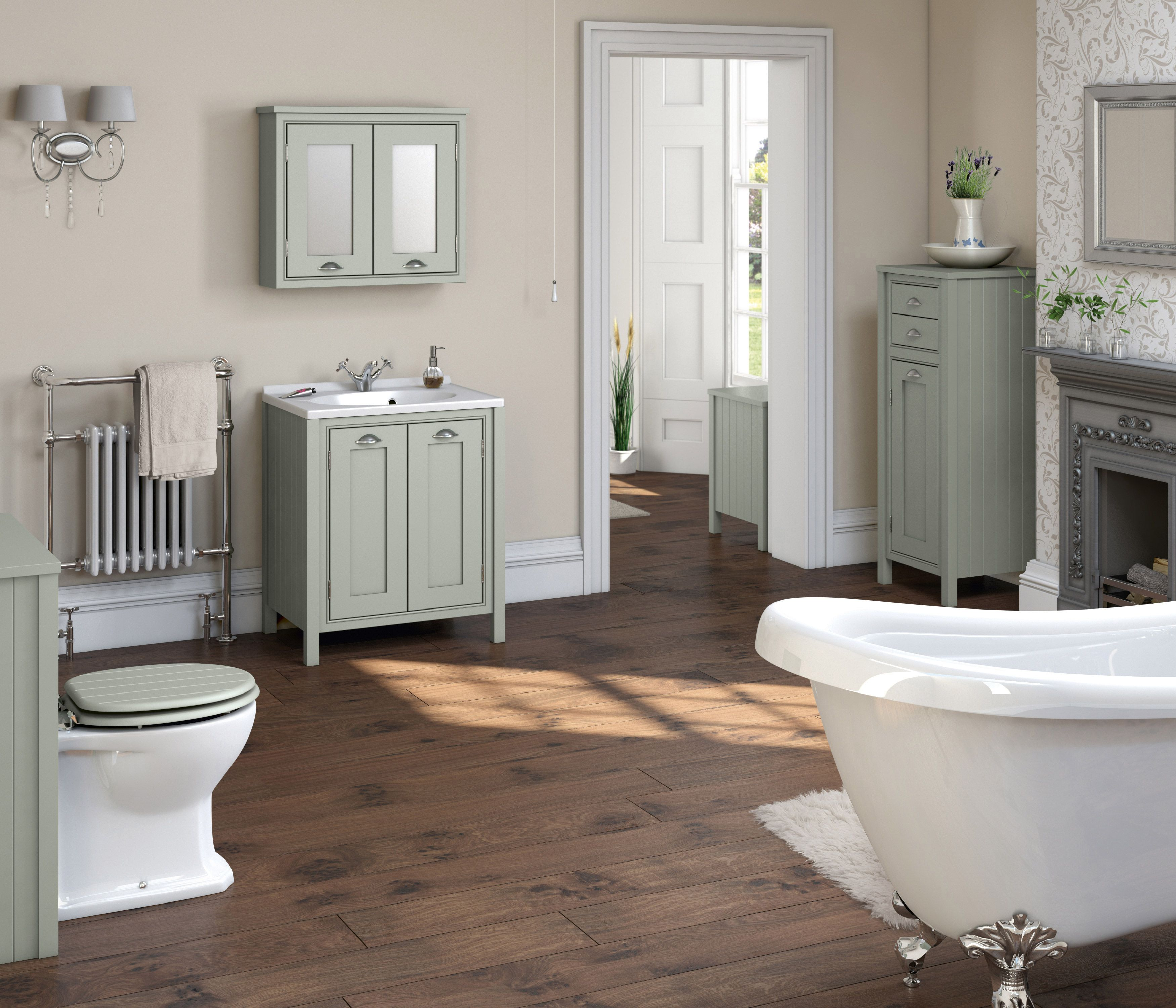 Beautiful Traditional Bathroom Design Traditional Bathroom - Country bathroom makeovers