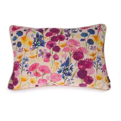 Wild Flower Meadow Oblong Cushion Highgrove Soft Furnishings Highgrove Shop Wild Flower Meadow Soft Furnishings Throw Pillows
