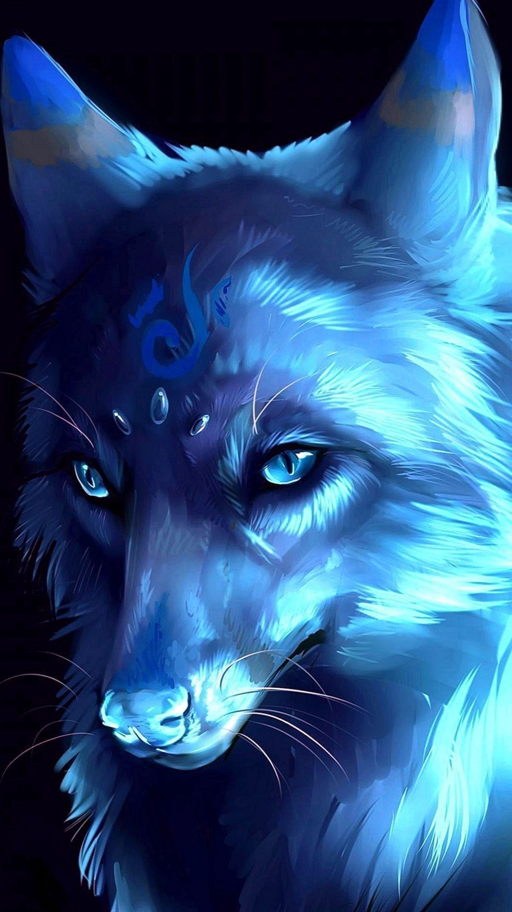 Anime Wolf Phone Wallpapers (With images) Fantasy wolf