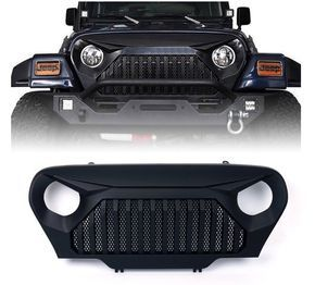Xprite Front Matte Black Gladiator Grill With Mesh Fit/'s 97-06 Jeep Wrangler TJ