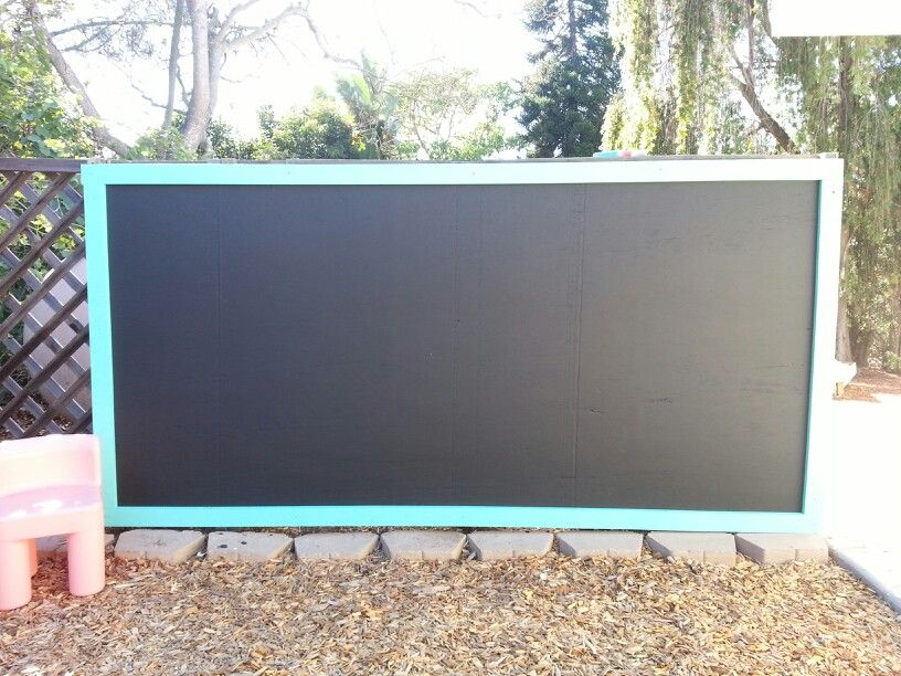Diy Outdoor Chalkboard Full Sheet Of Plywood Paint