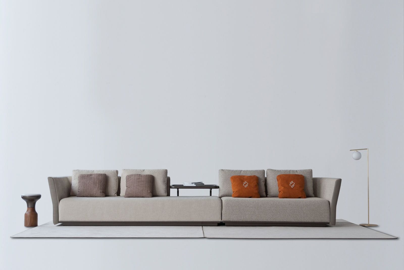 1742 Sofa Modular Base Piel Nature Acabado Antracita Brillo 4220 3
