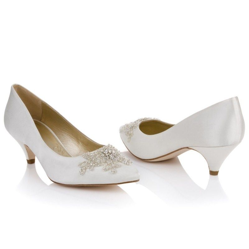17 Best Images About Wedding Shoes On Evening With Ivory Kitten Heel Bridal