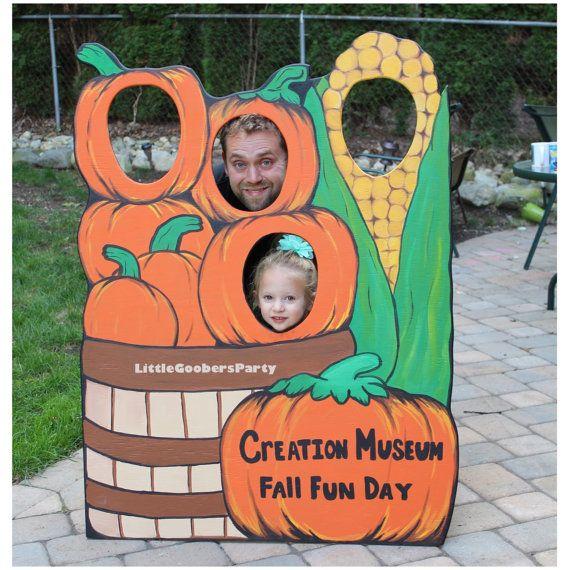 Pumpkin Patch Wooden Photo Op Prop Large Festival Photo Booth Prop