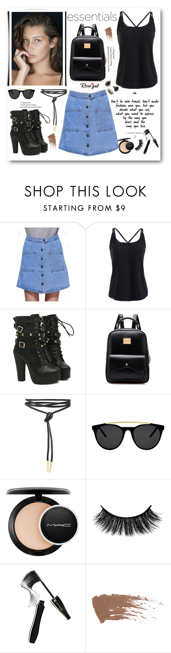 """Rosegal 8"" by cindy88 ❤ liked on Polyvore featuring Smoke x Mirrors, MAC Cosmetics, Lancôme, MANGO and rosegal"