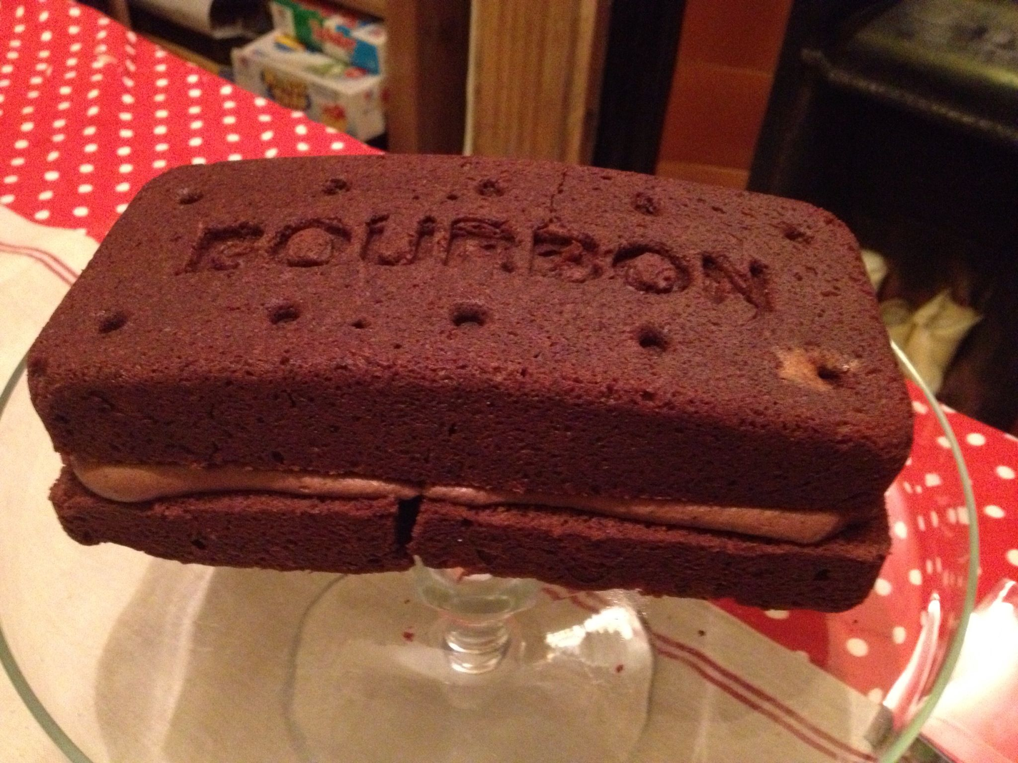 Giant Bourbon Biscuit Cake Made From Mould The Iconic Company Http