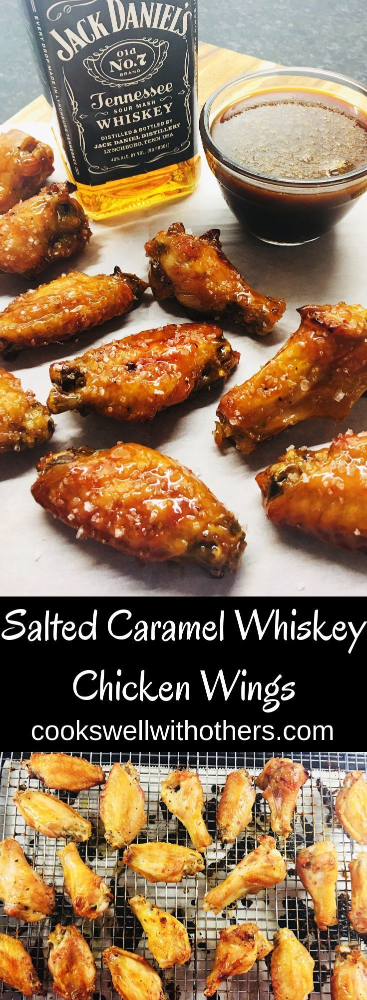 Photo of Salted Caramel Whiskey Chicken Wings – Cooks Well With Others
