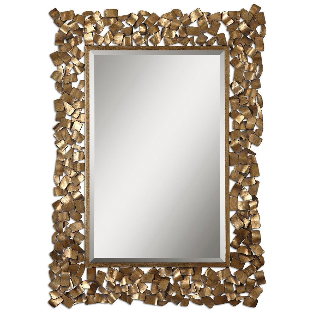 Uttermost Capulin Antique Gold Mirror 12816