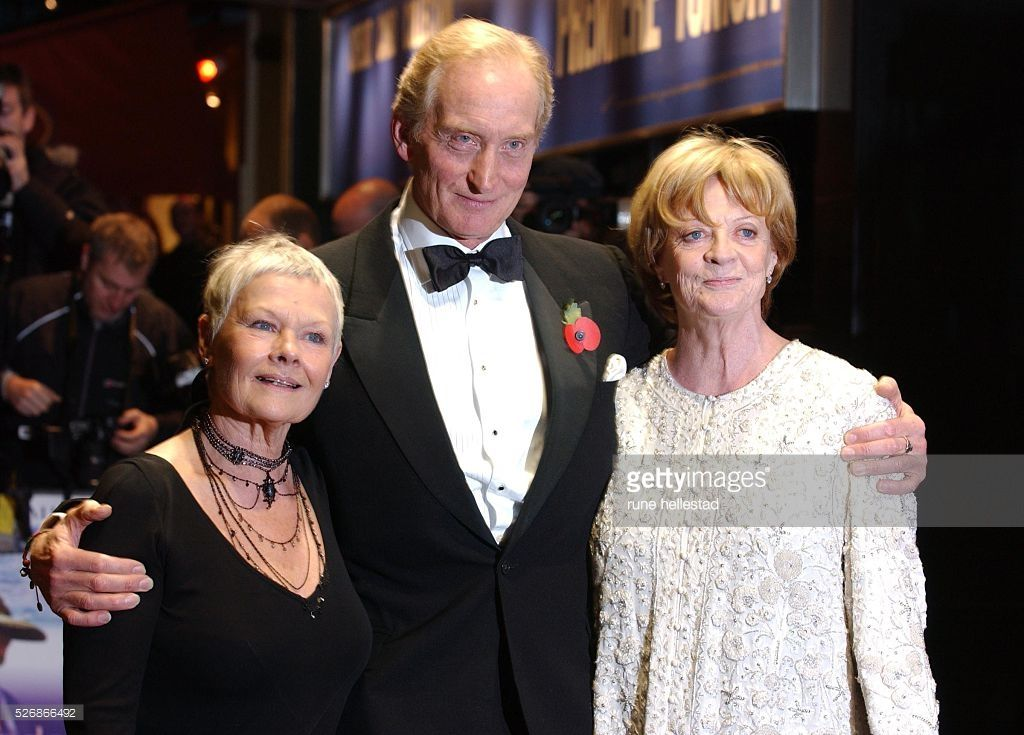 Judi Dench, Charles Dance and Maggie Smith (R) attend the premiere of 'Ladies in Lavender' at the Odeon Leicester Square.