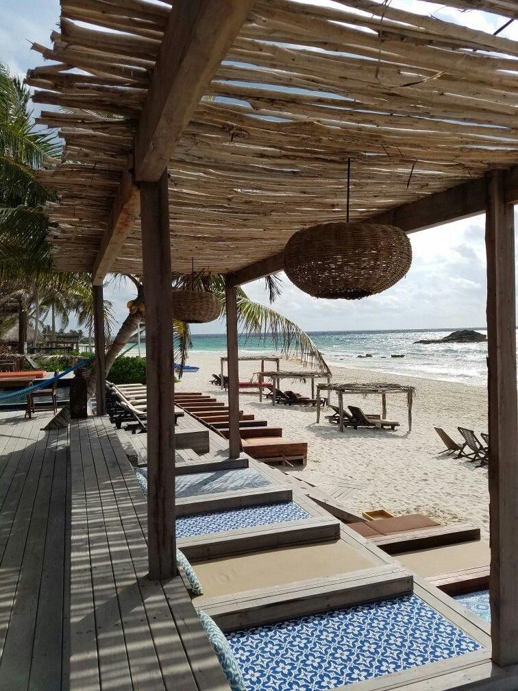 Relax Amansala Hotel Tulum Mexico Rustic Pergola Beach Tent Tulum Mexico