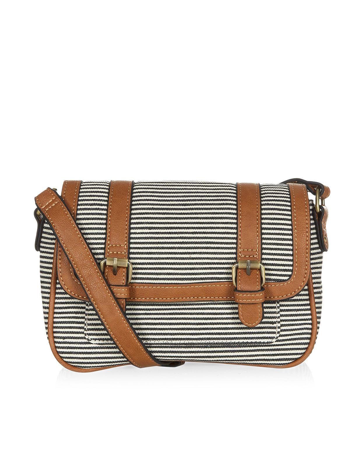88a33113e7 Stripe Double Zip Across Body Bag   Multi   Accessorize   Clothes ...