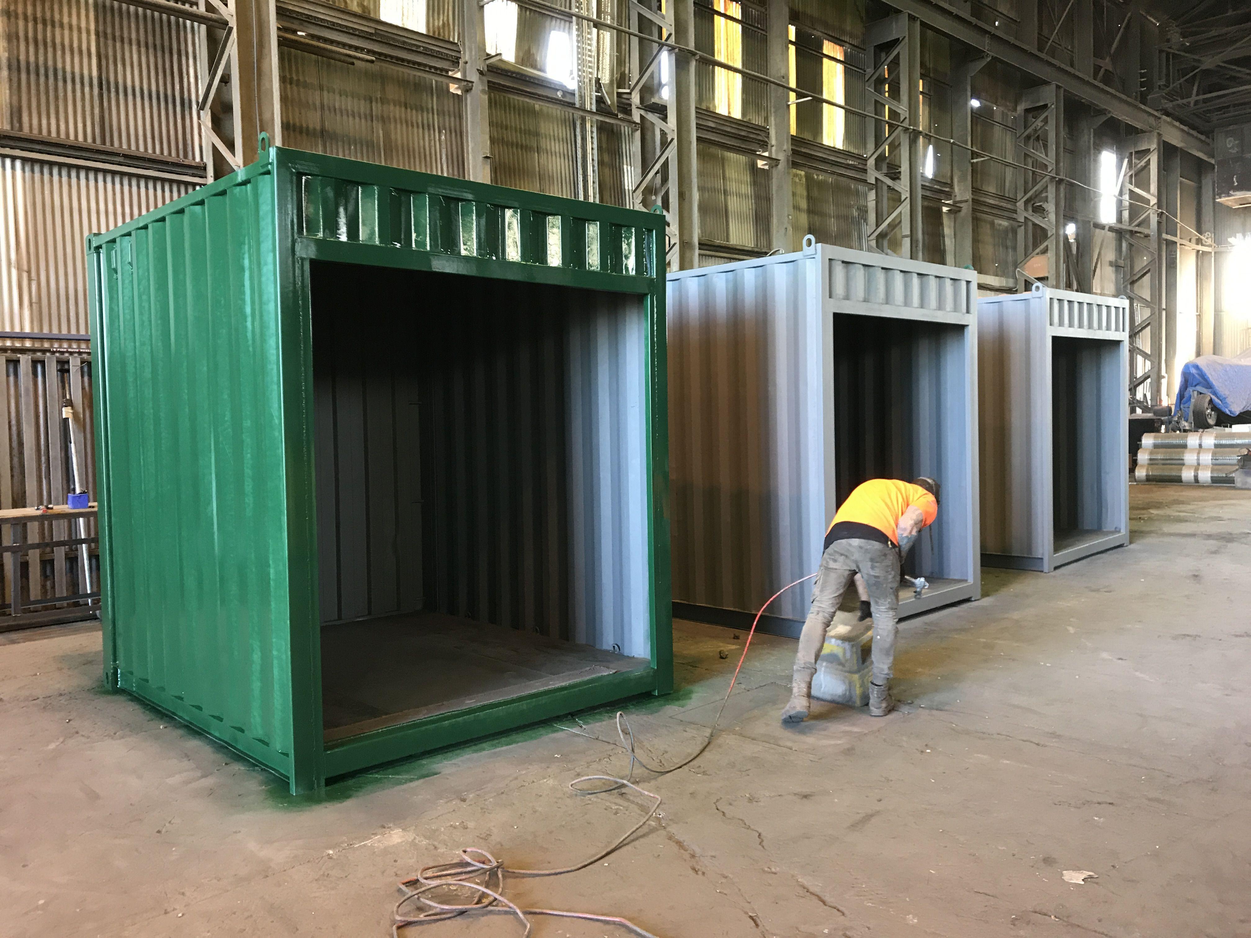 Shipping Containers For Sale In Melbourne Containerspace Shipping Containers For Sale Container Coffee Shop Metal Shop Building