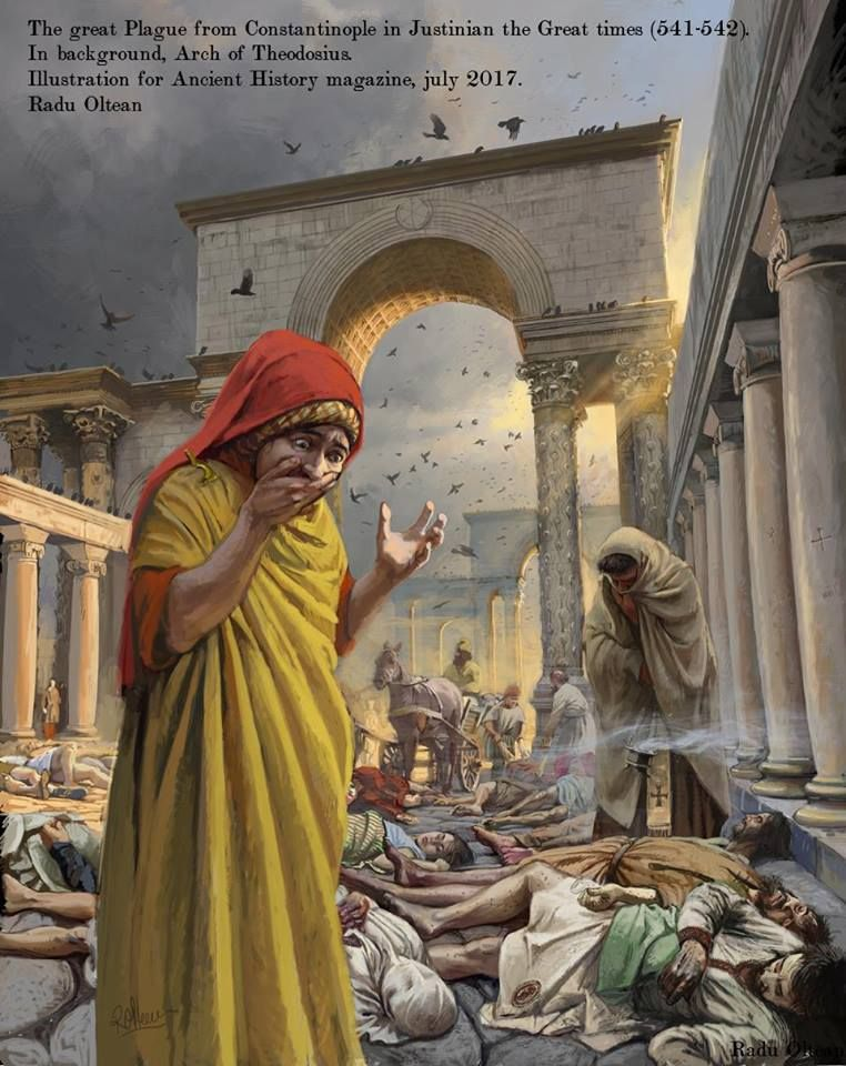 The great Plague from Constantinople in Justinian the Great times ...
