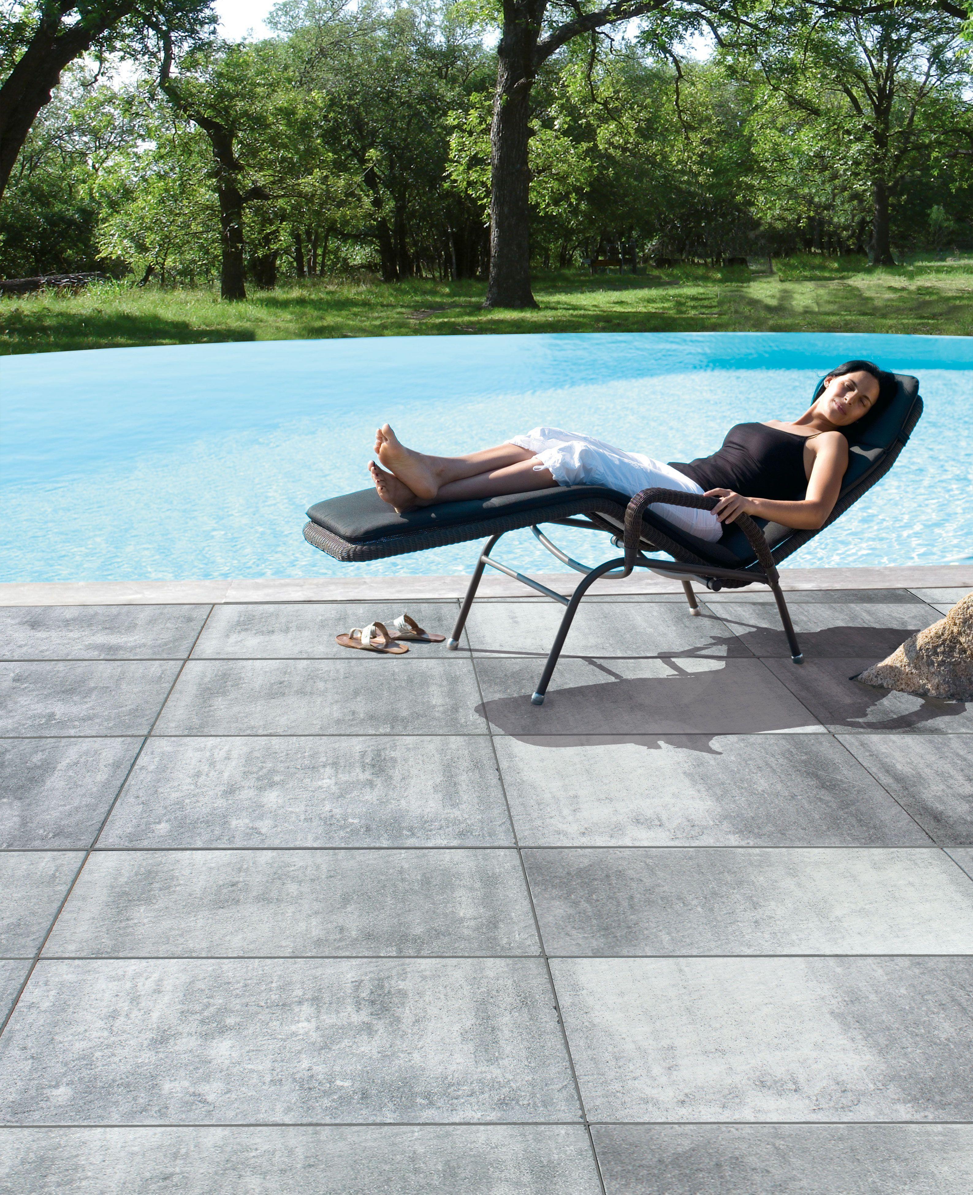 Hausler Living Stones Einfacher Zu Pflegen Durch Optimierte Leichtrein Technologie Farbe Silver Shadow T Steinplatten Terrasse Gartenplatten Steinplatten
