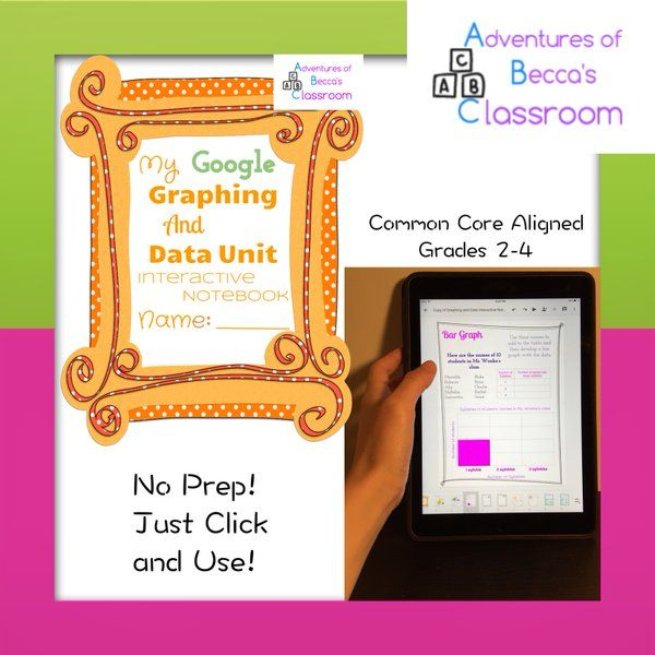 Google Interactive Notebook to Teach Graphing and Data! Great idea! No prep!