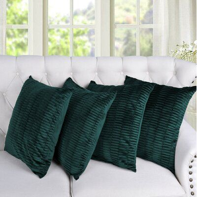 Sapphire Large Geometric Corded Decorative Pillow Cover