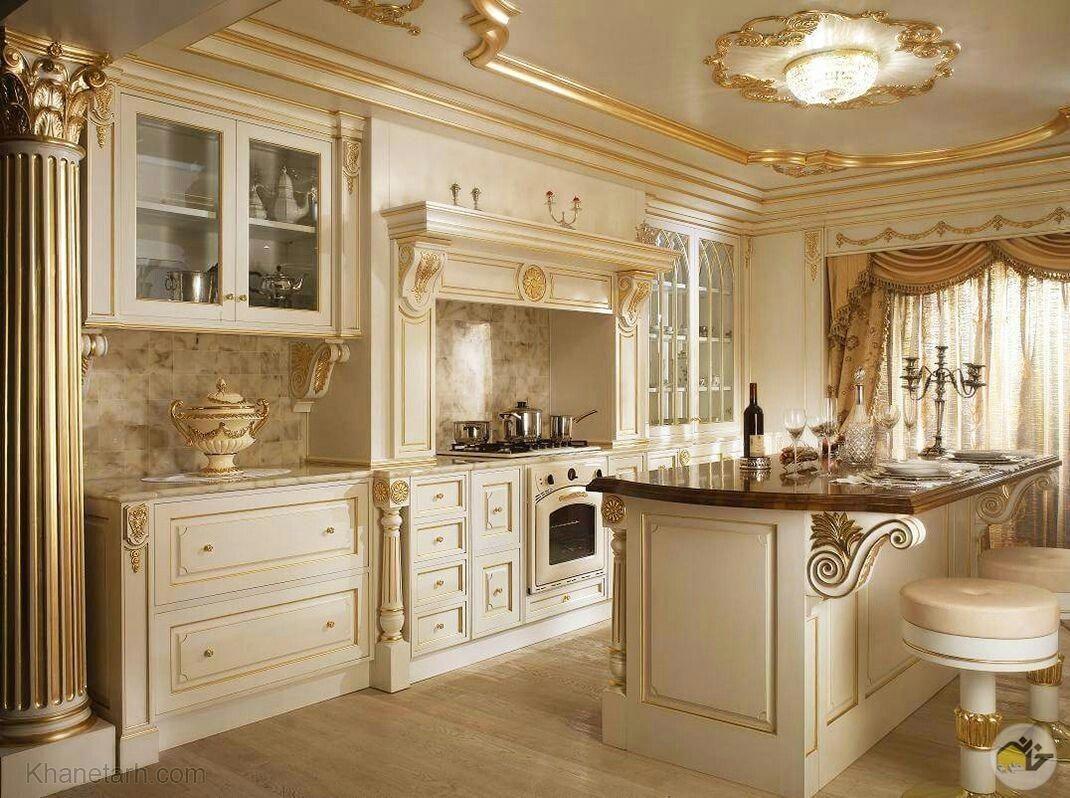 Pin by Reza Rouzitalab on Luxury Kitchens   Classic kitchen design ...