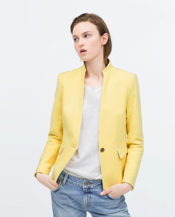 Image 2 of VELVETEEN BLAZER WITH NO LAPEL from Zara  9b97a471cc7