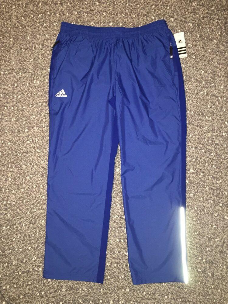 d2ec50e376704 Adidas Men s MV Woven Windbreaker Pants Blue REFLECTIVE Zip Cuff XL NWT  55   fashion