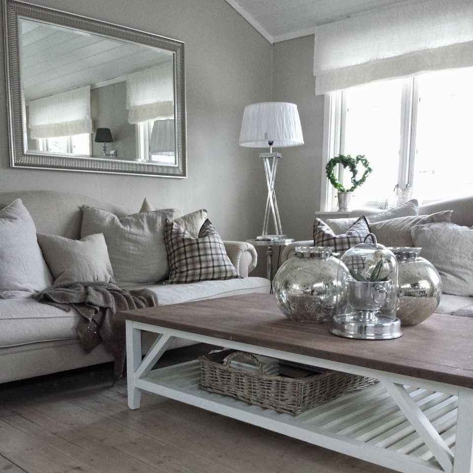 Gray and white living room  White living room decor, Silver