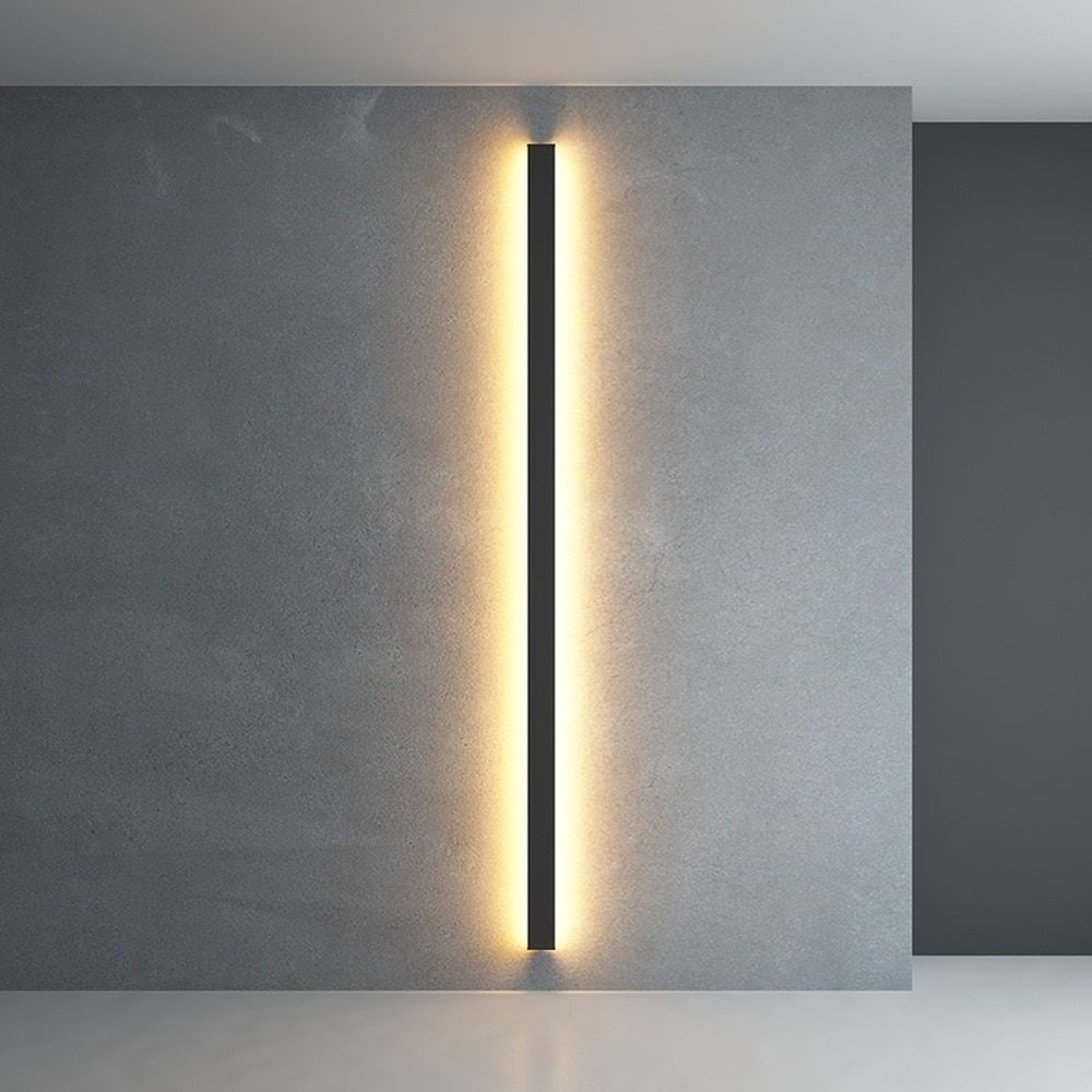 Minimalist Creative Long Wall Lamp Modern Simple Living Room Bedroom Bedside Lamp Background Wall Lamp L In 2020 Wall Lamp Bedside Lamp Modern Wall Sconces Living Room