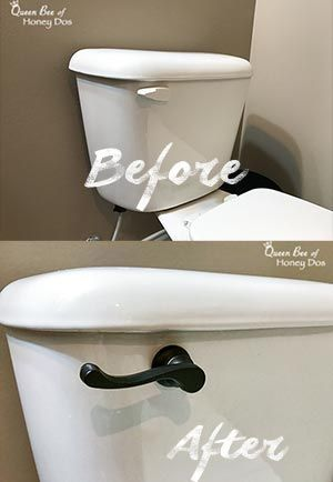 Photo of How to Upgrade Toilet Flush Levers • Queen Bee of Honey Dos #bathroomdecoridea…