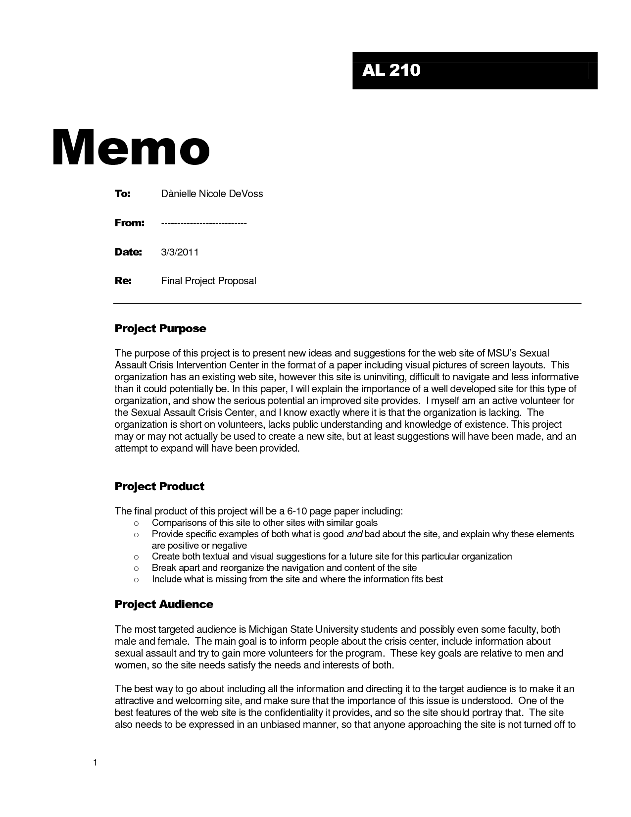 sample business memo examples