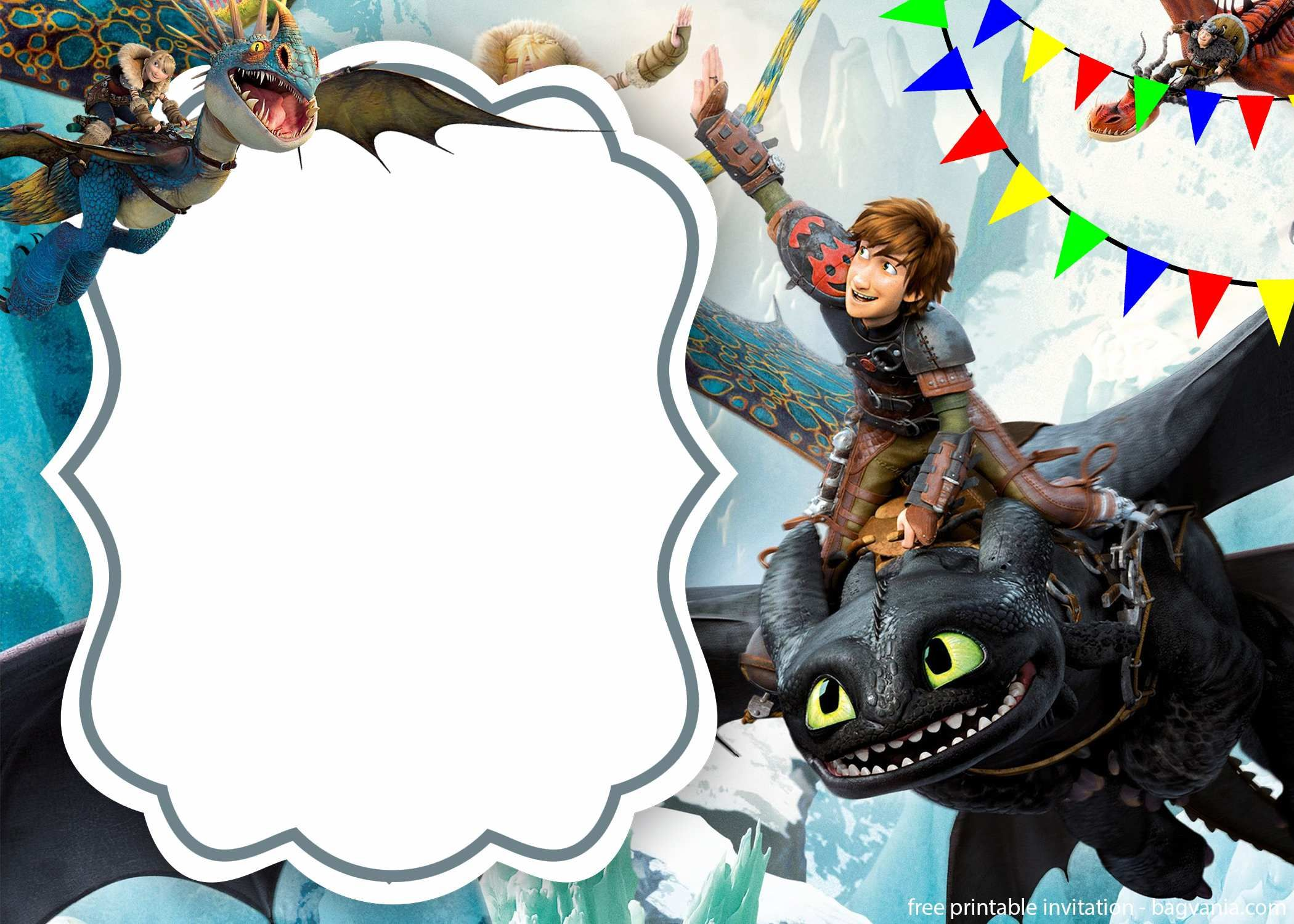 Free Download How To Train Your Dragon Invitation – FREE Printable