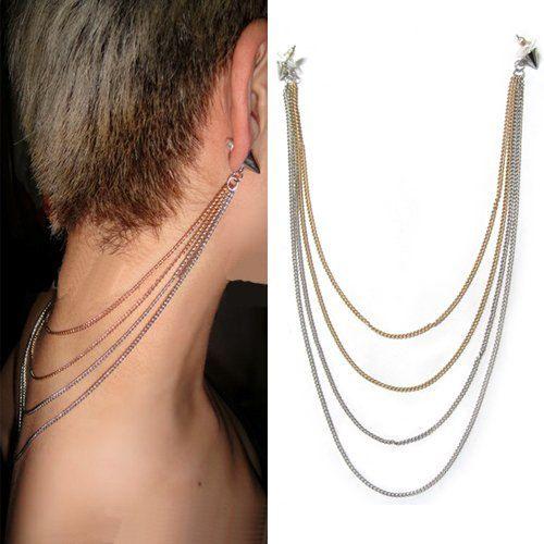 Boho Princess Tassel Gold Chain Stud Earrings by MiraMarc on Etsy, €22.50