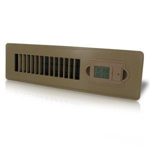 Vent-Miser 91663-BR Programmable Energy Saving Vent, 12-by-2-Inches, Brown