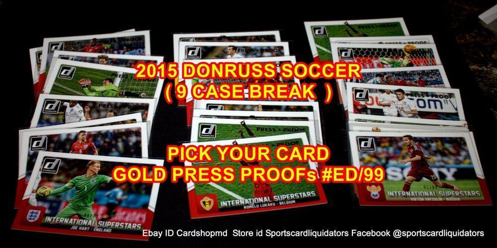 2015 donruss soccer international superstars gold proof