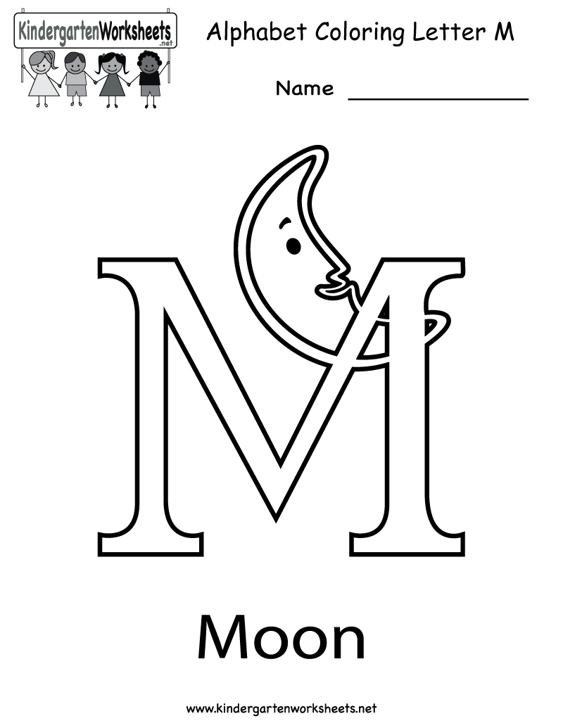 Kindergarten Letter M Coloring Worksheet Printable | Worksheets ...