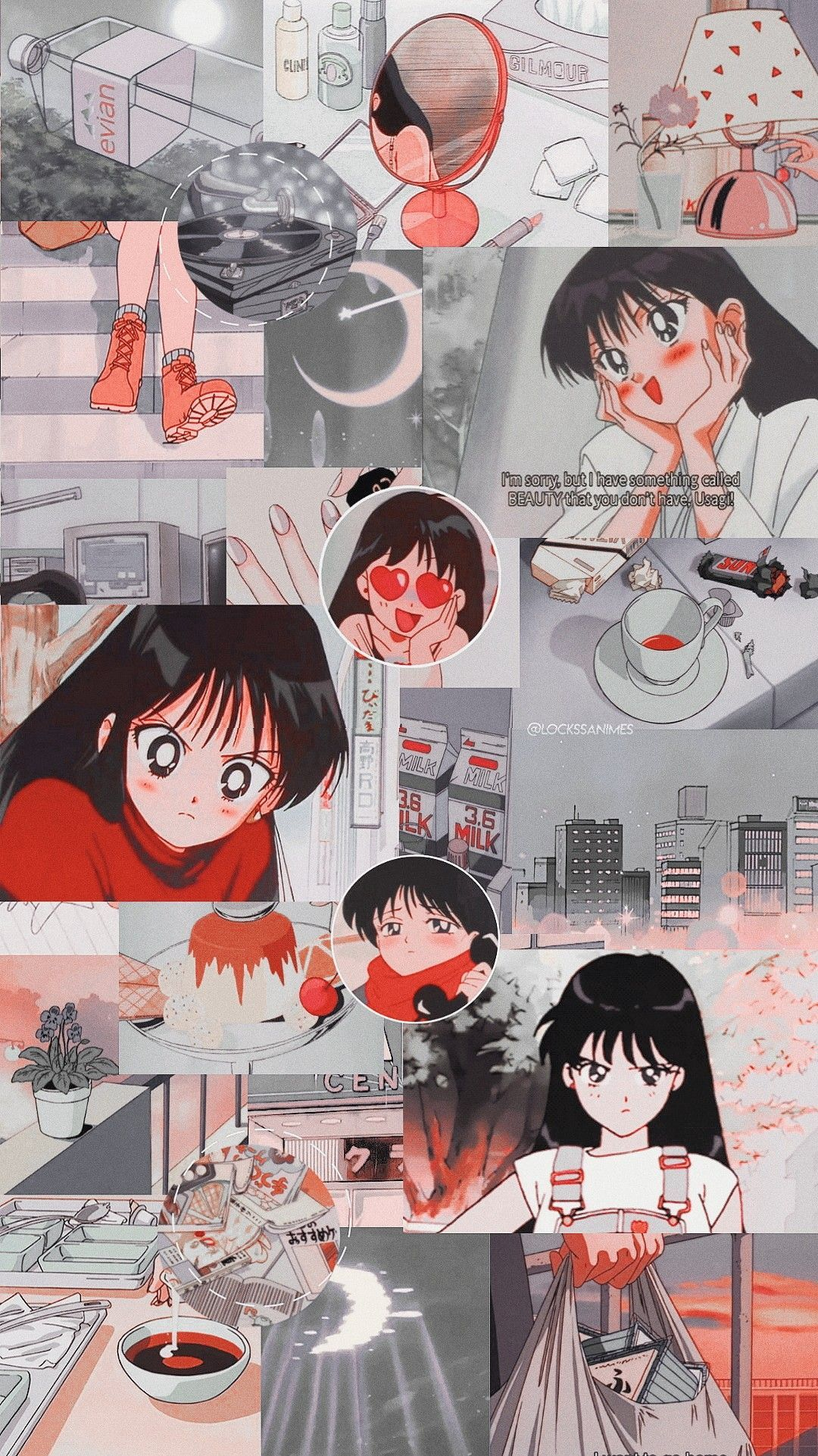 List of Best Aesthetic Anime Wallpaper IPhone Rei Hino in
