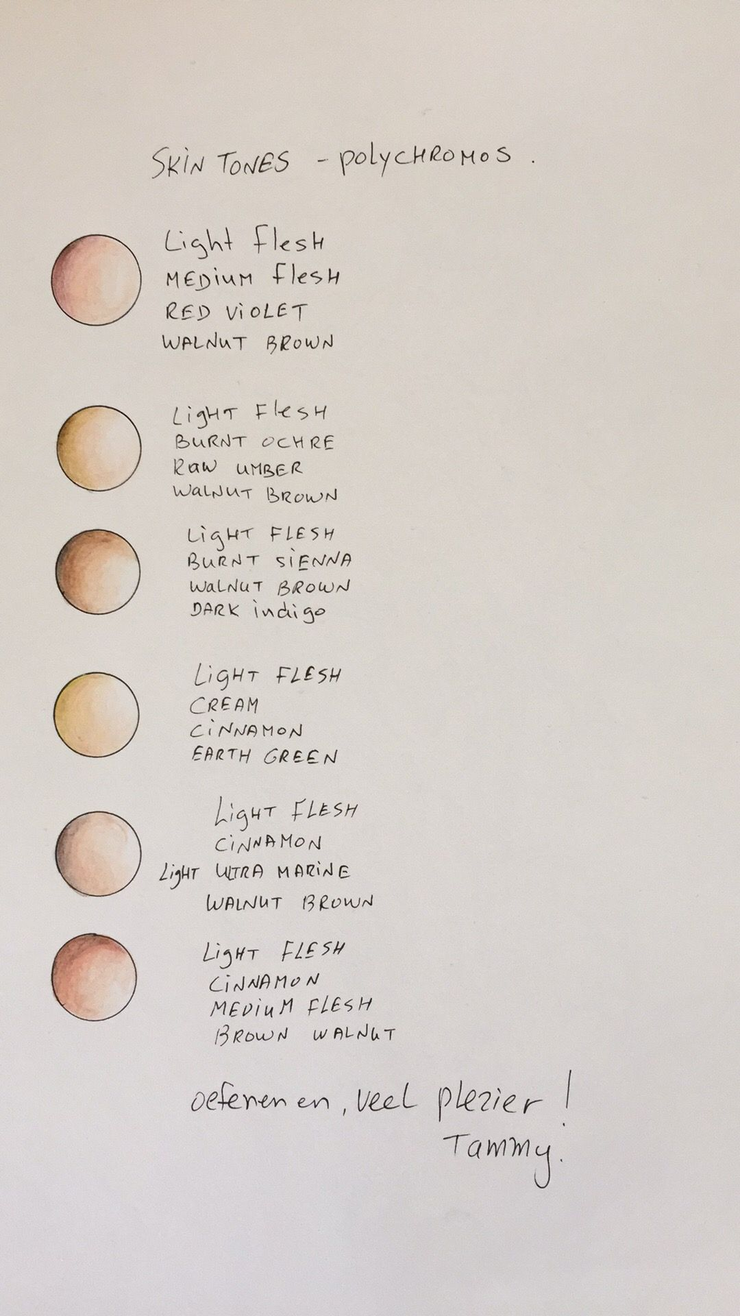 My skin tones pallet with Faber Castell Polychromos pencils ...