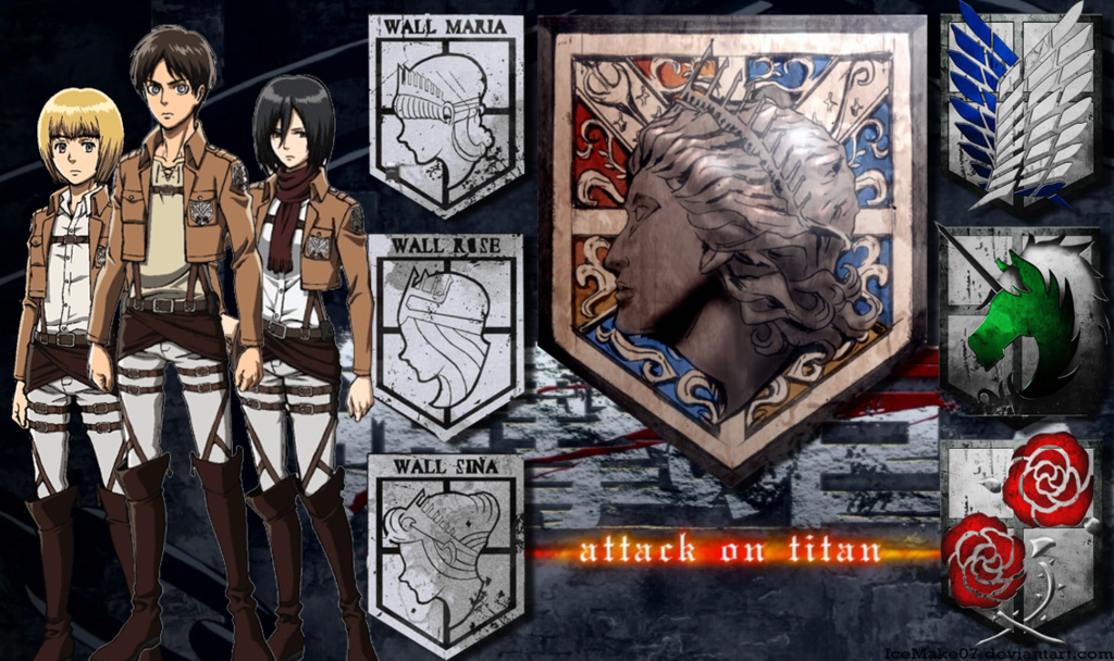 Attack On Titan Wallpaper By Icemake07 D6e996f Png 1024 608 Attack On Titan Titans Attack