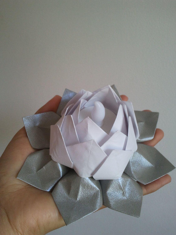 Christmas LED tea light holder-origami lotus flowers ... - photo#7