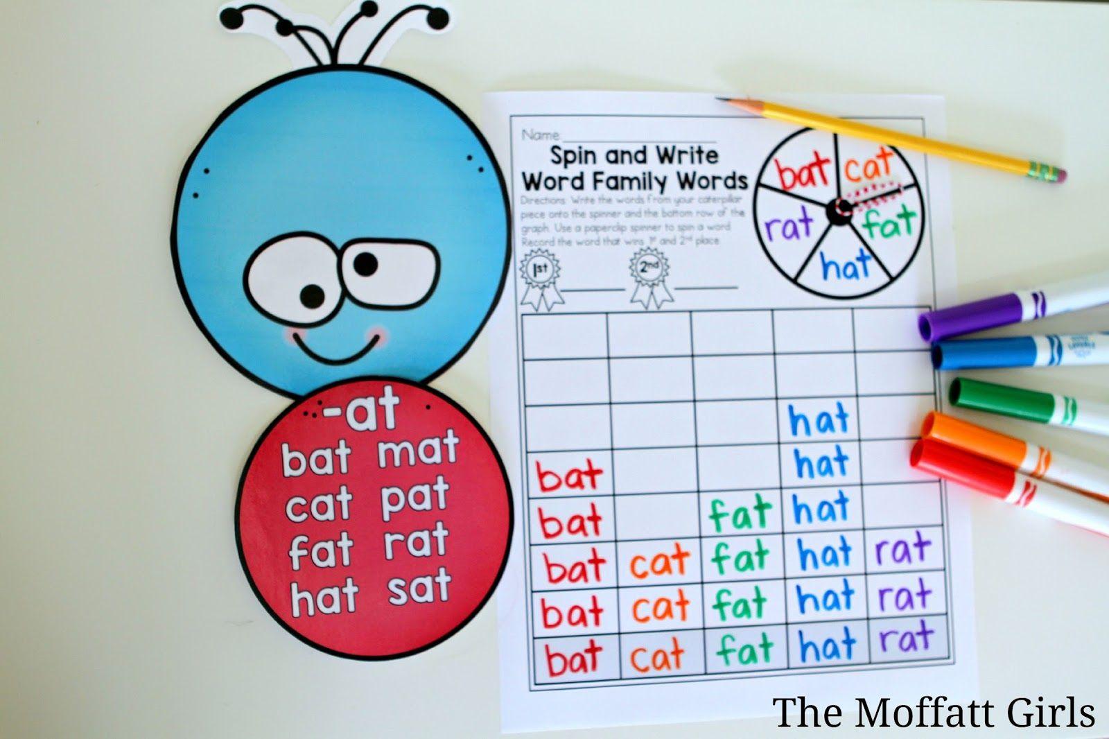 The Moffatt Girls Word Family Caterpillar