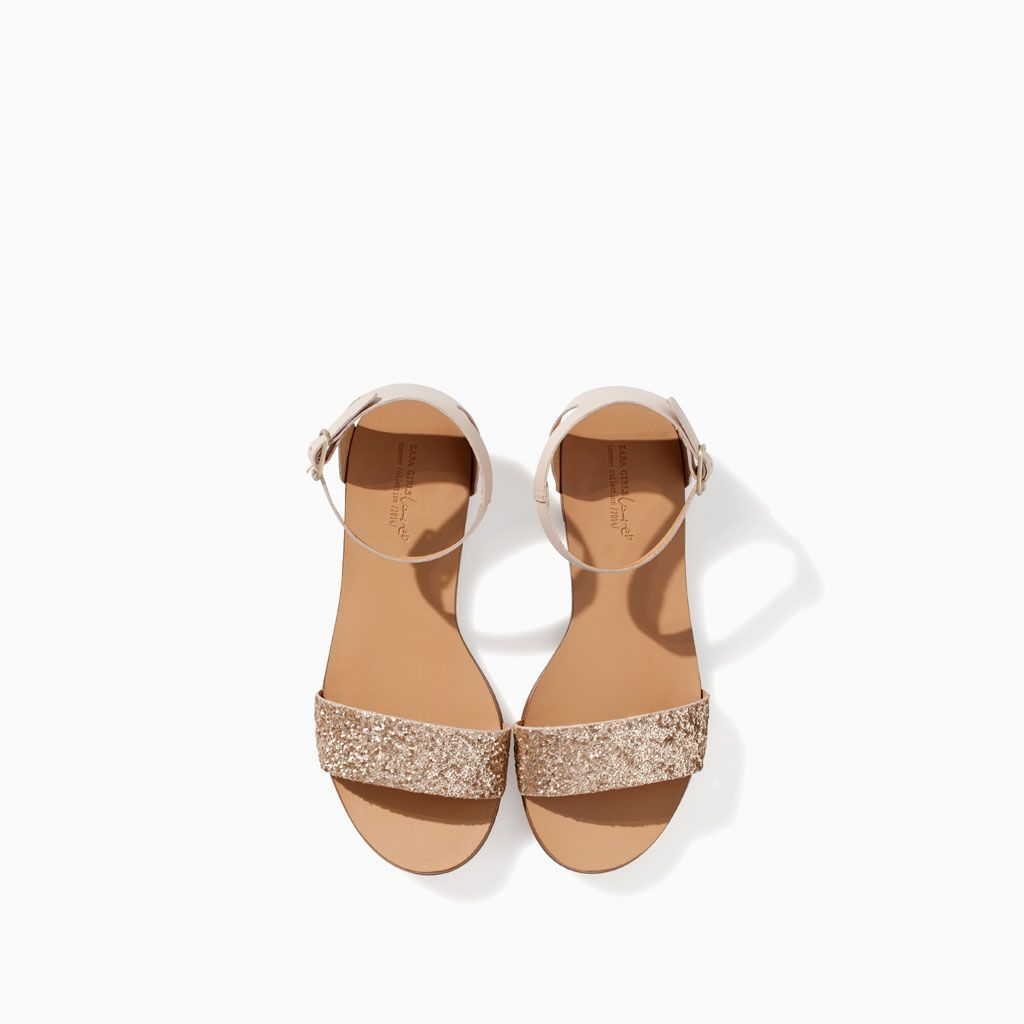 209b3dd2690 METALLIC SANDAL from Zara for Flower Girl Taupe Sandals