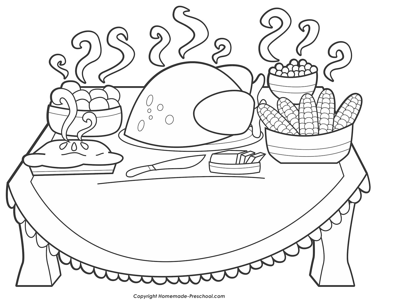 38b3cc5ad90a9773315b58f5728f1d00 » Preschool Thanksgiving Food Coloring Pages