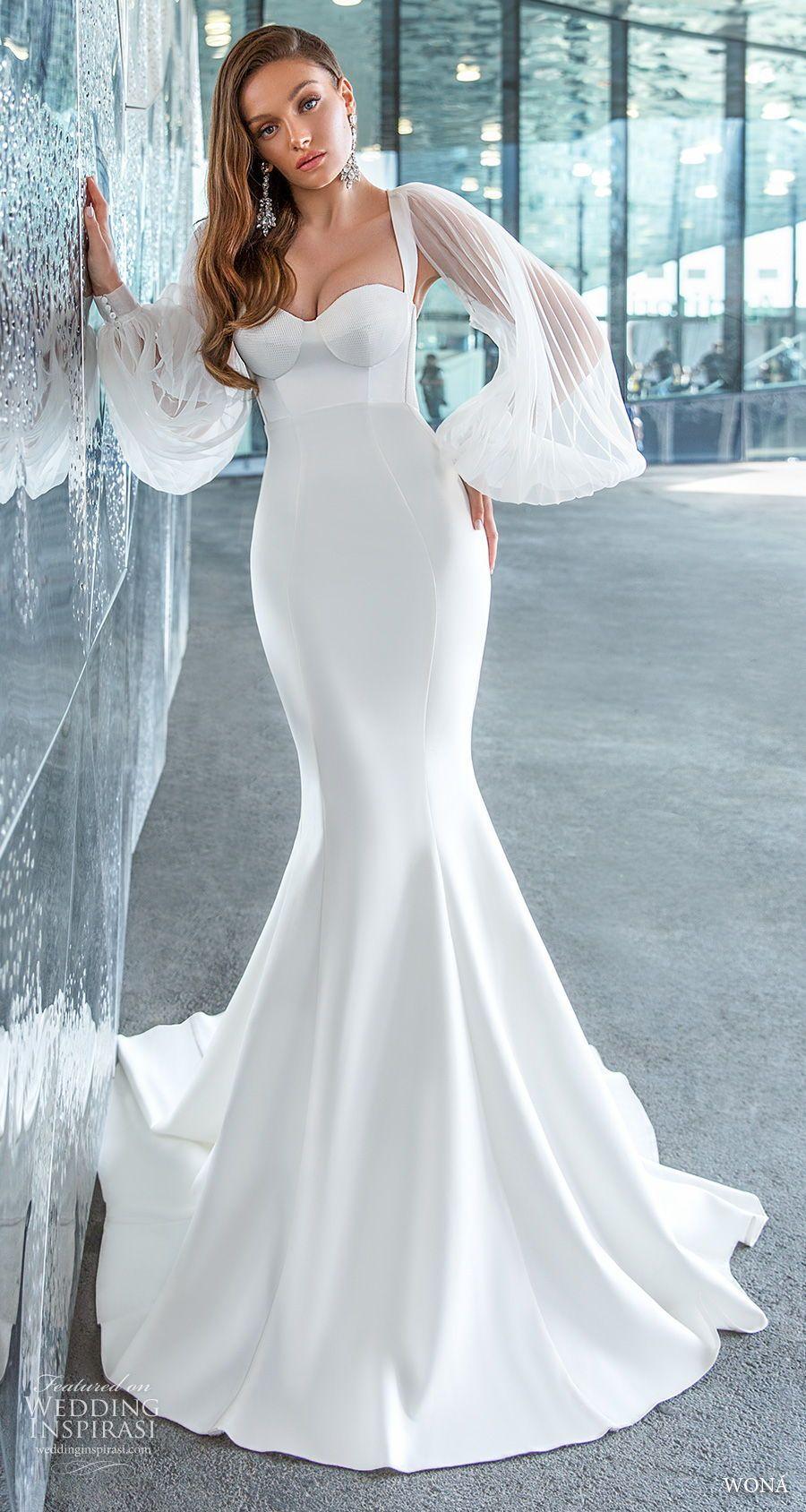 Wona Concept 2020 Diva Weddding Dresses Wedding Inspirasi Satin Mermaid Wedding Dress Wedding Dresses Bride Dress Vintage [ 1688 x 900 Pixel ]